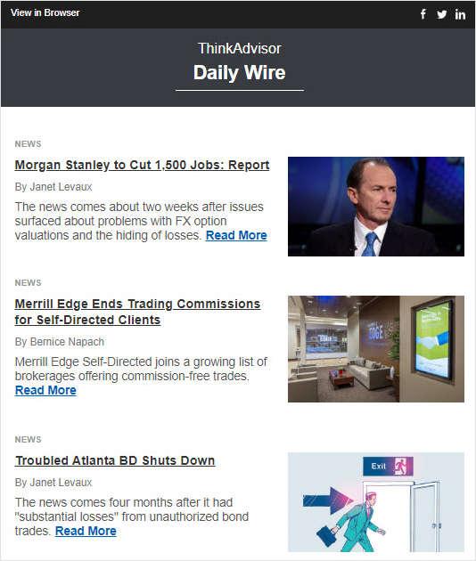 ThinkAdvisor Daily Wire