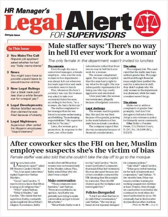 Legal Alert for Supervisors