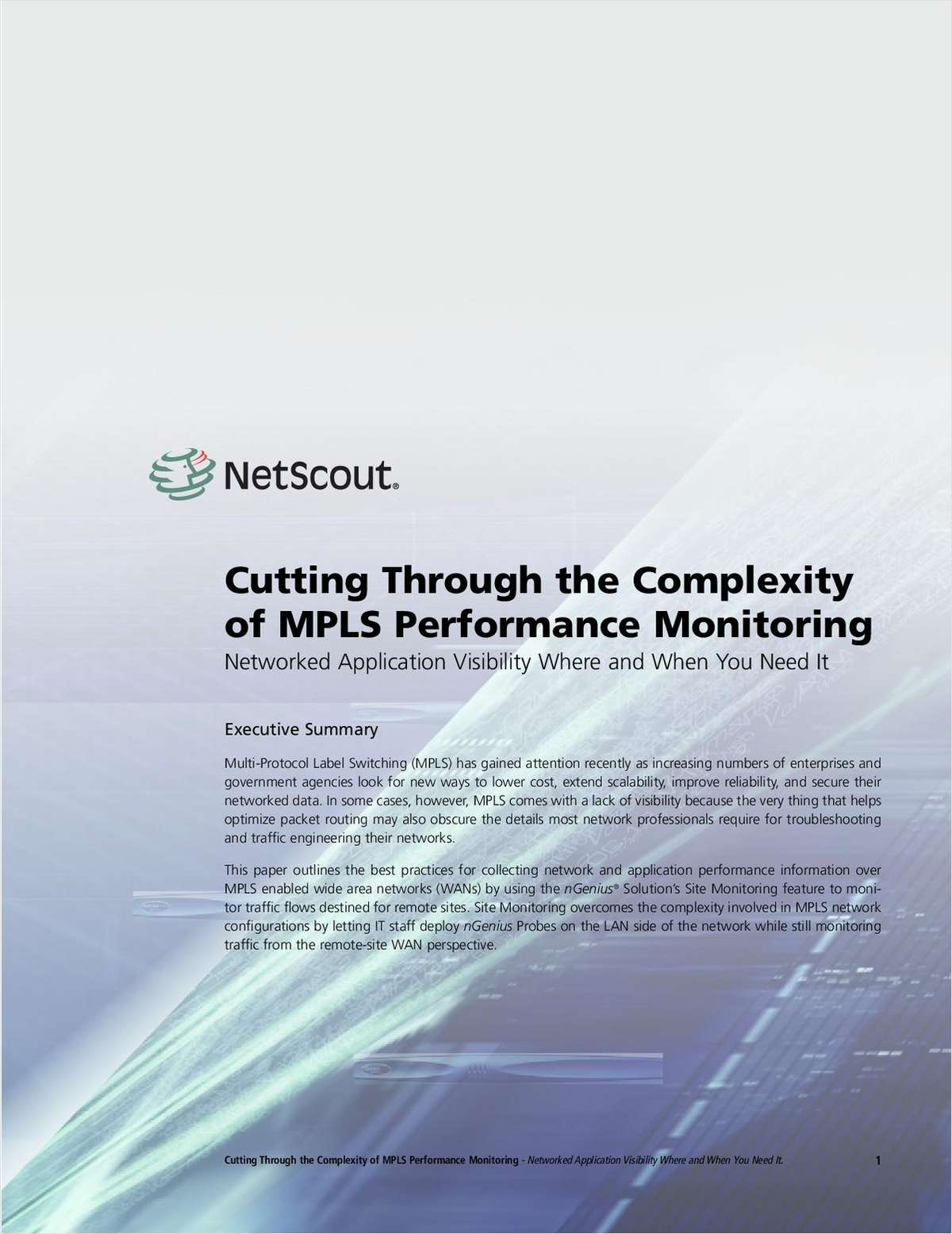 Cutting Through the Complexity of Multi-Protocol Label Switching (MPLS) Performance