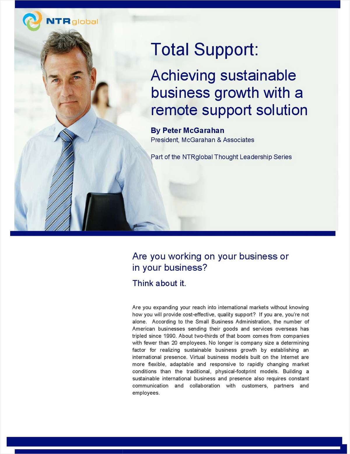 Total Support: Achieving Sustainable Business Growth with a Remote Support Solution
