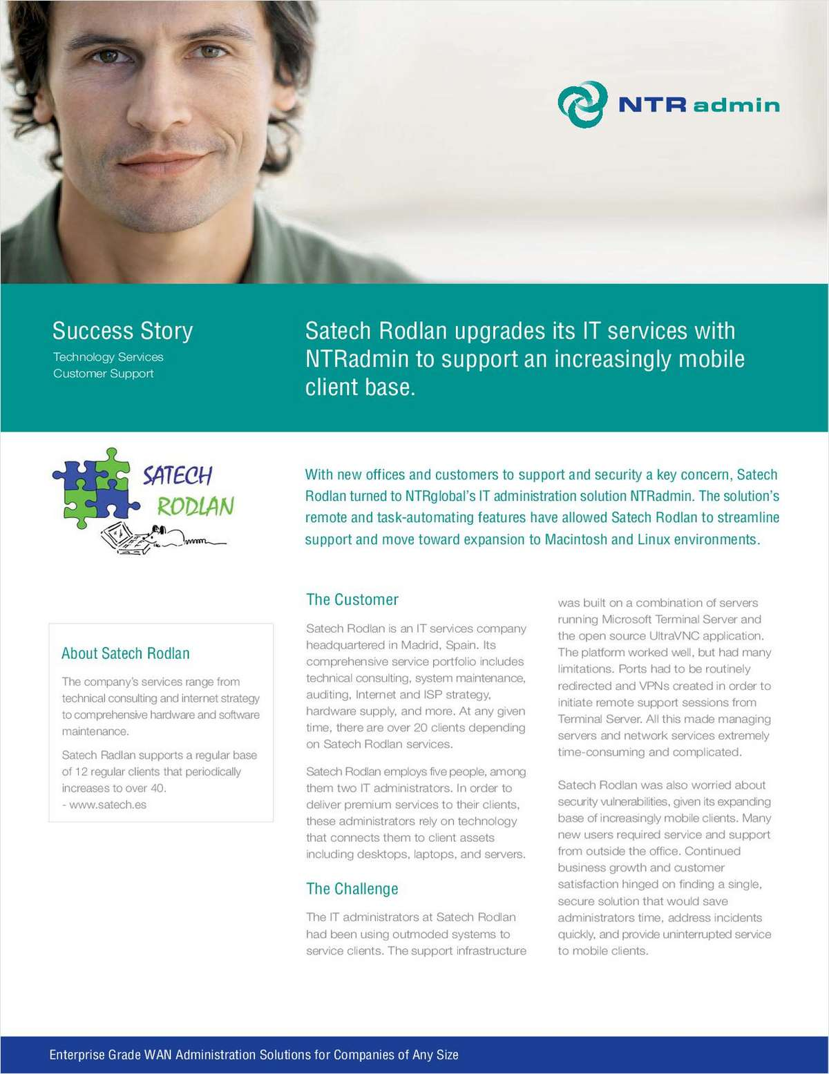 Satech Rodlan Upgrades its IT Services with NTRadmin to Support an Increasingly Mobile Client Base