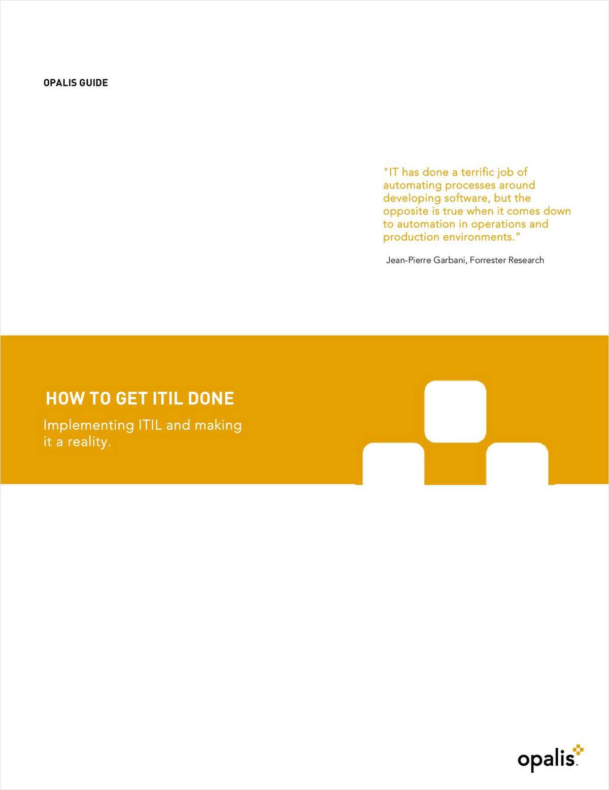 How to Get ITIL Done