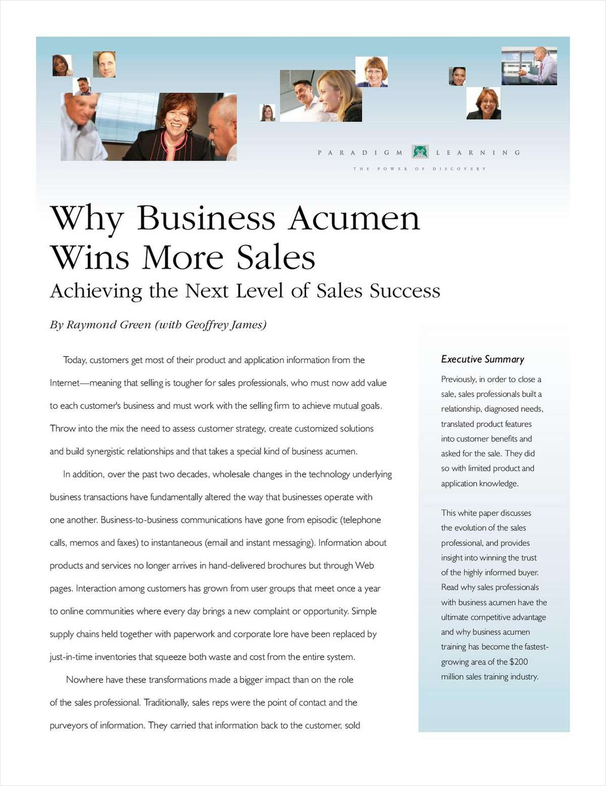 Why Business Acumen Wins More Sales