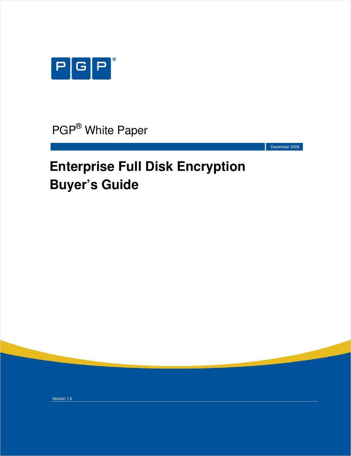 Enterprise Full Disk Encryption Buyer's Guide