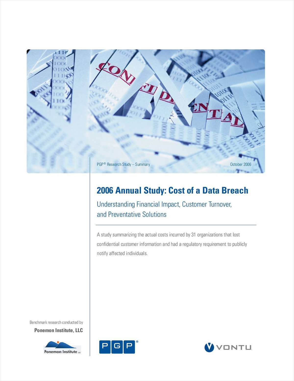 2006 Annual Study: Cost of a Data Breach