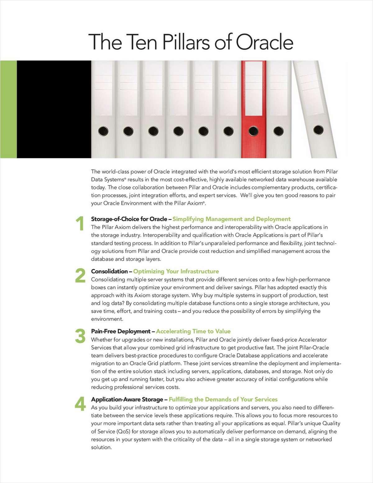 Ten Pillars of Oracle