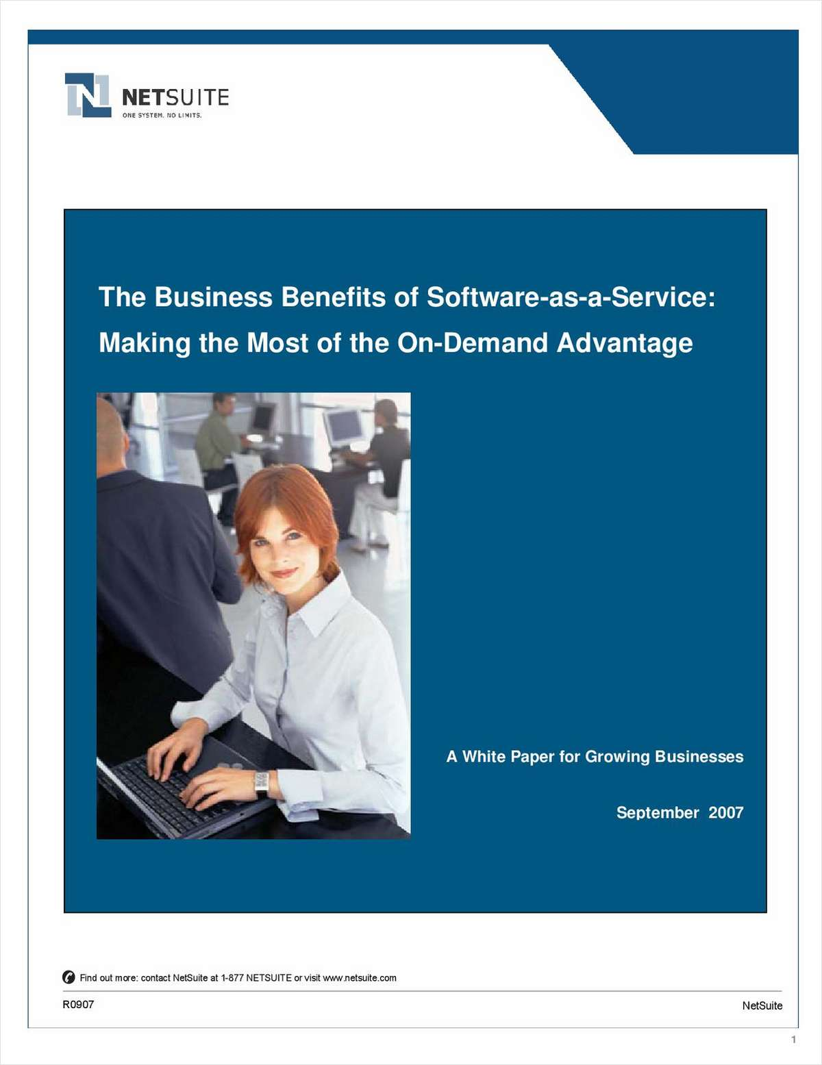 The Business Benefits of Software-as-a-Service: Making the Most of the On-Demand Advantage