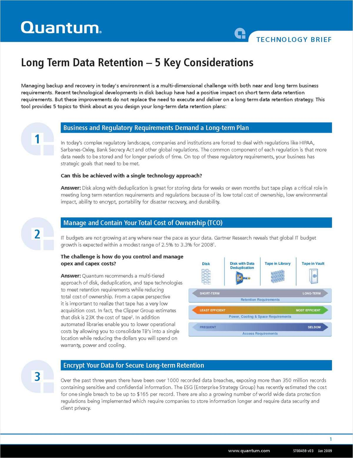 Long Term Data Retention: 5 Key Considerations