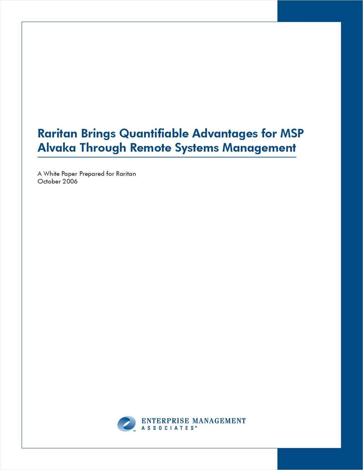 Quantifiable Advantages through Remote Systems Management