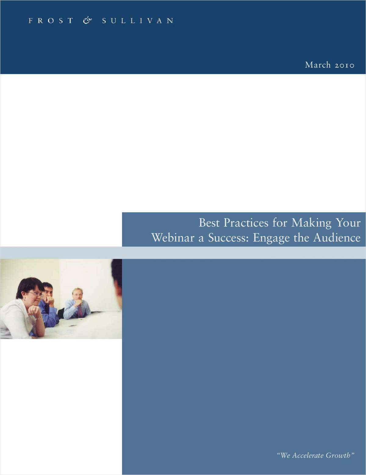 Best Practices for Making Your Webinar a Success - Engage the Audience