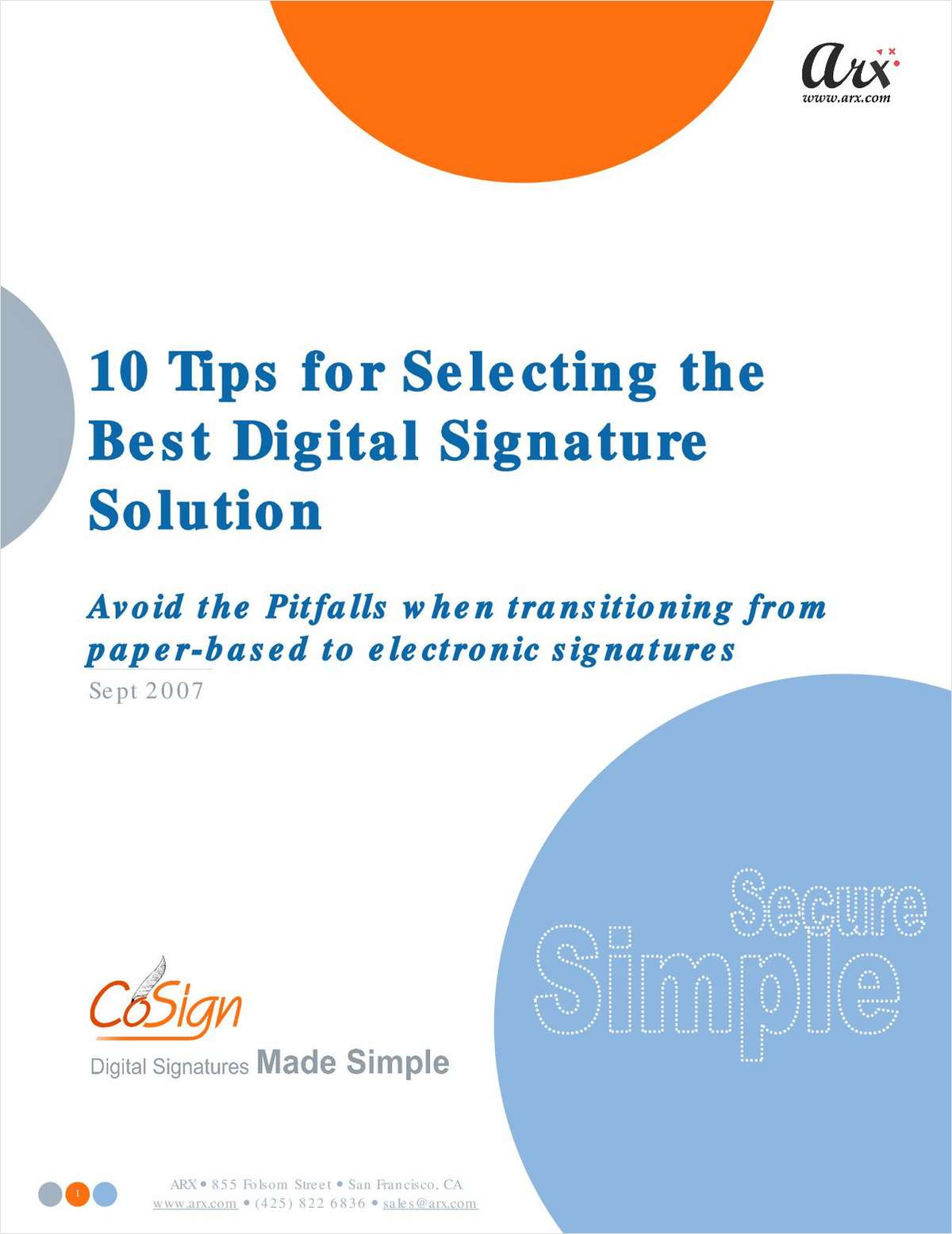 10 Tips for Selecting the Best Digital Signature Solution