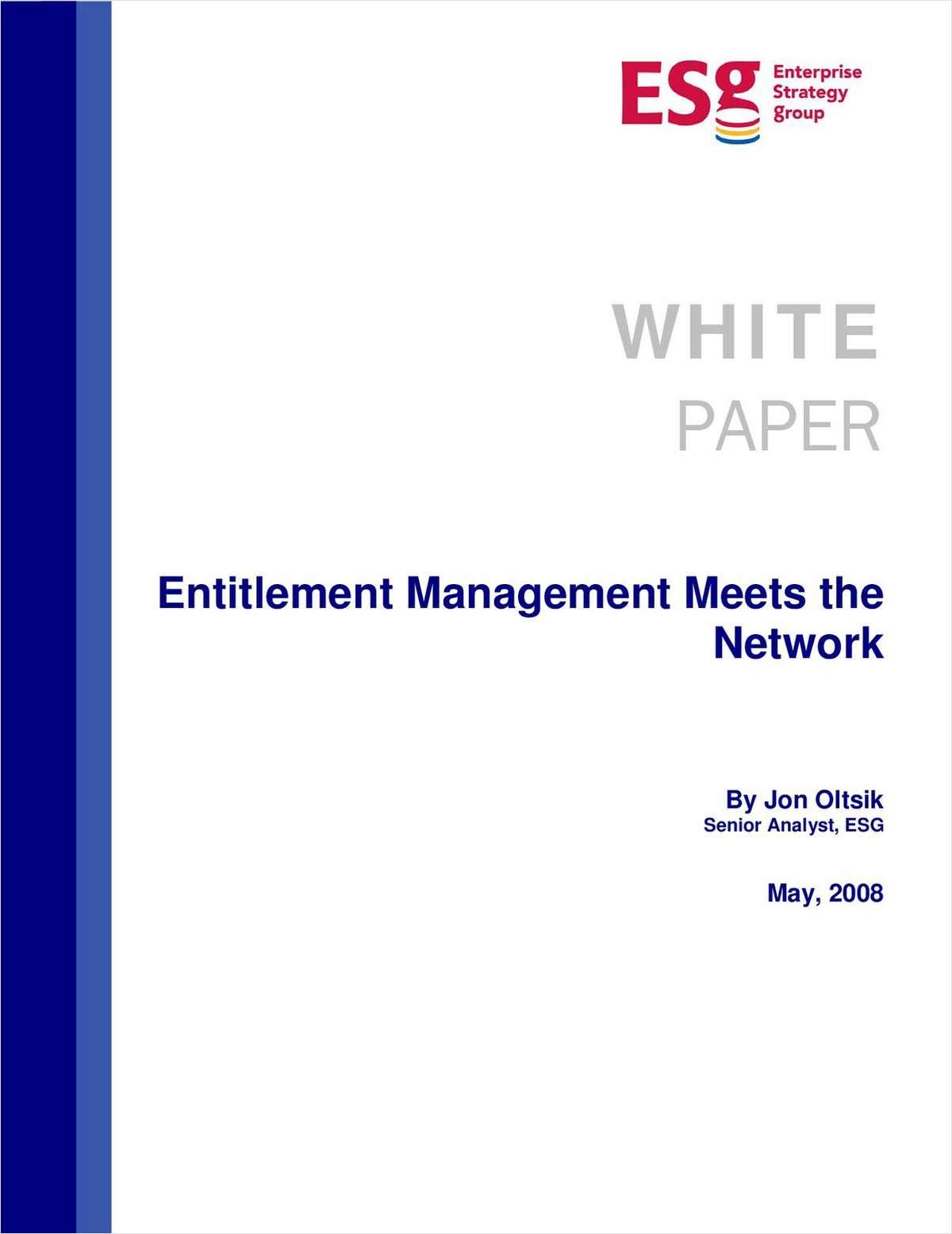 Entitlement Management Meets the Network