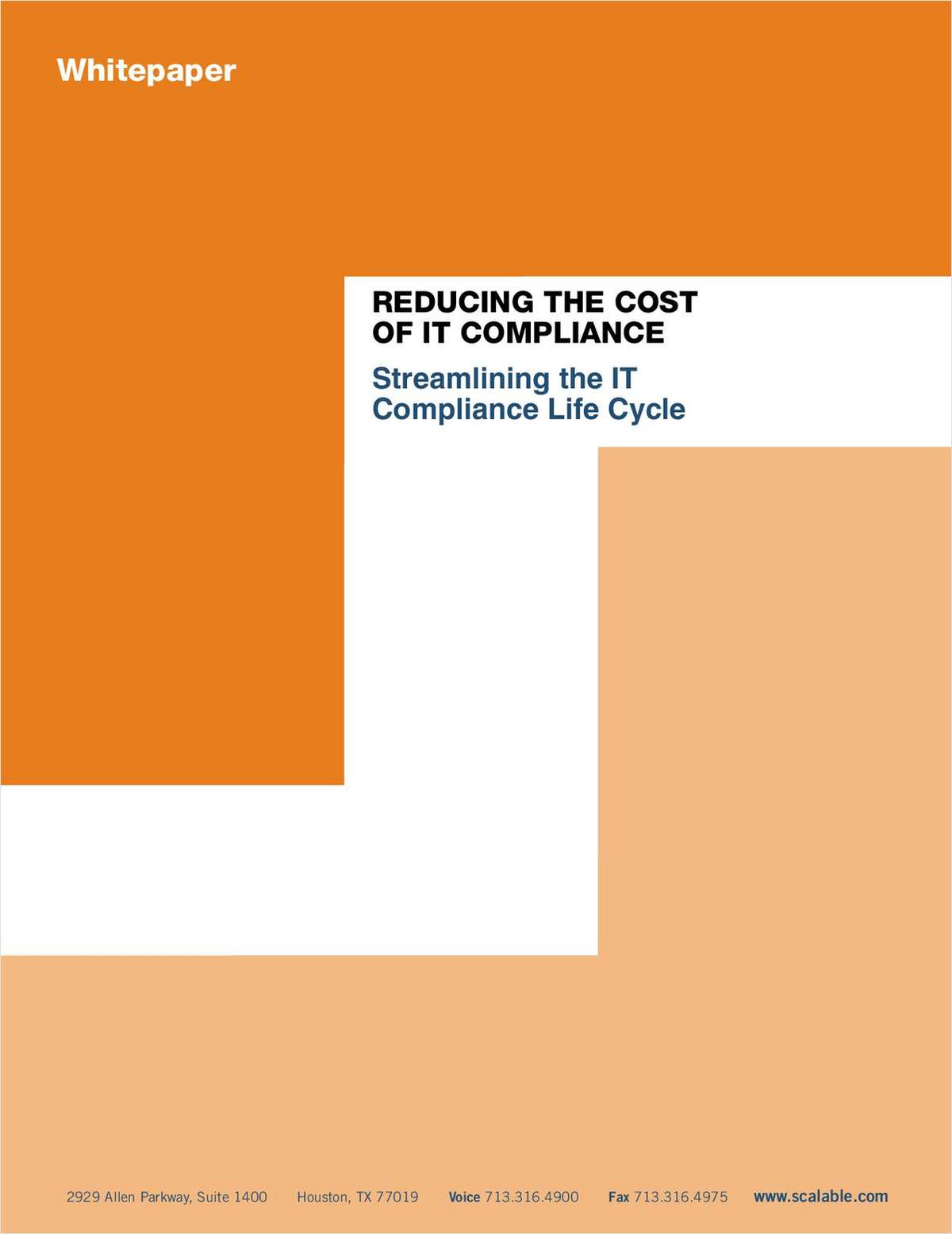Reducing the Cost of IT Compliance: Streamlining the IT Compliance Life Cycle