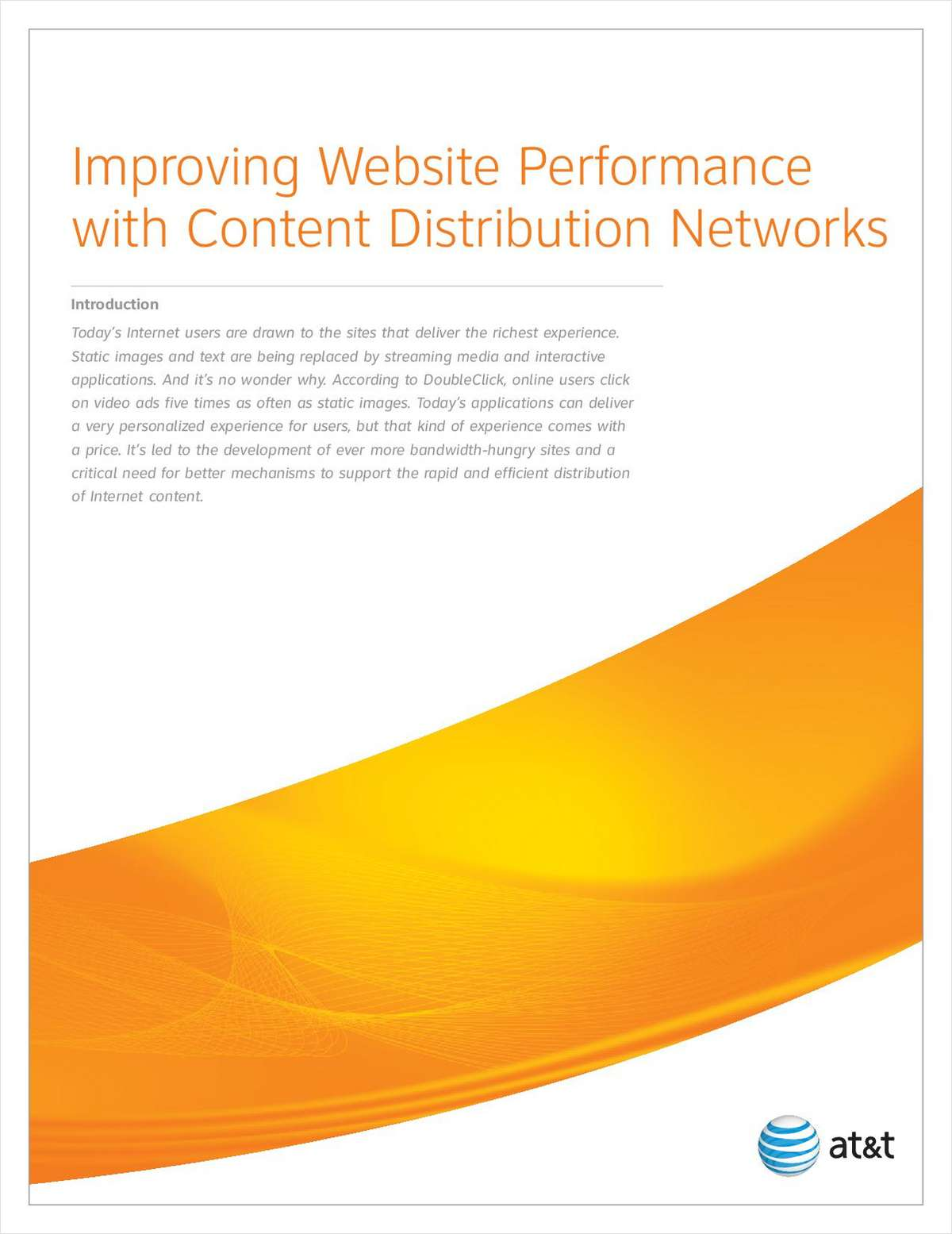 Improving Website Performance with Content Distribution Networks