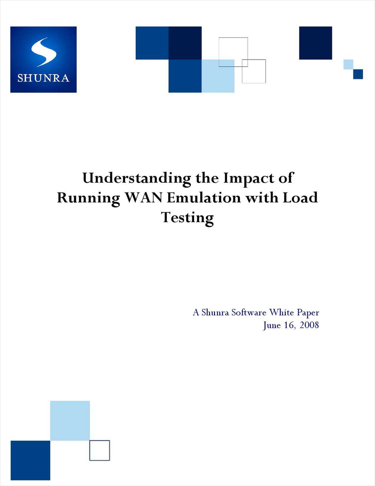 Understanding the Impact of Running WAN Emulation with Load Testing