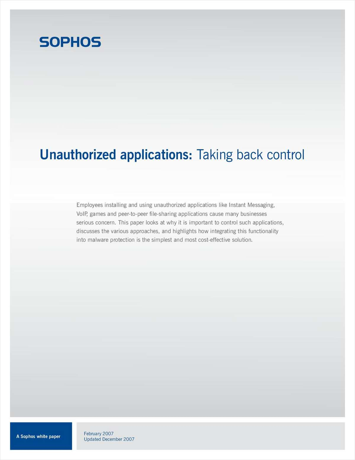 Unauthorized Applications: Taking Back Control