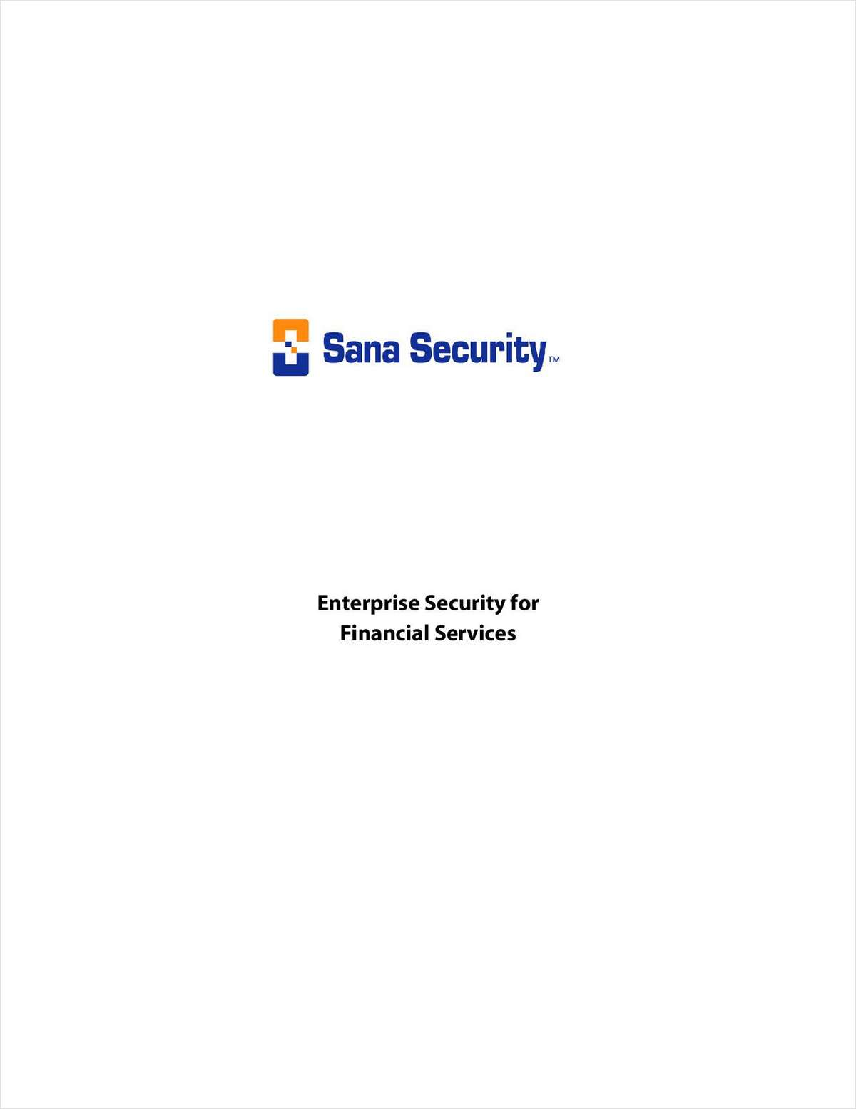Enterprise Security for Financial Services