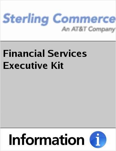 Financial Services Executive Kit