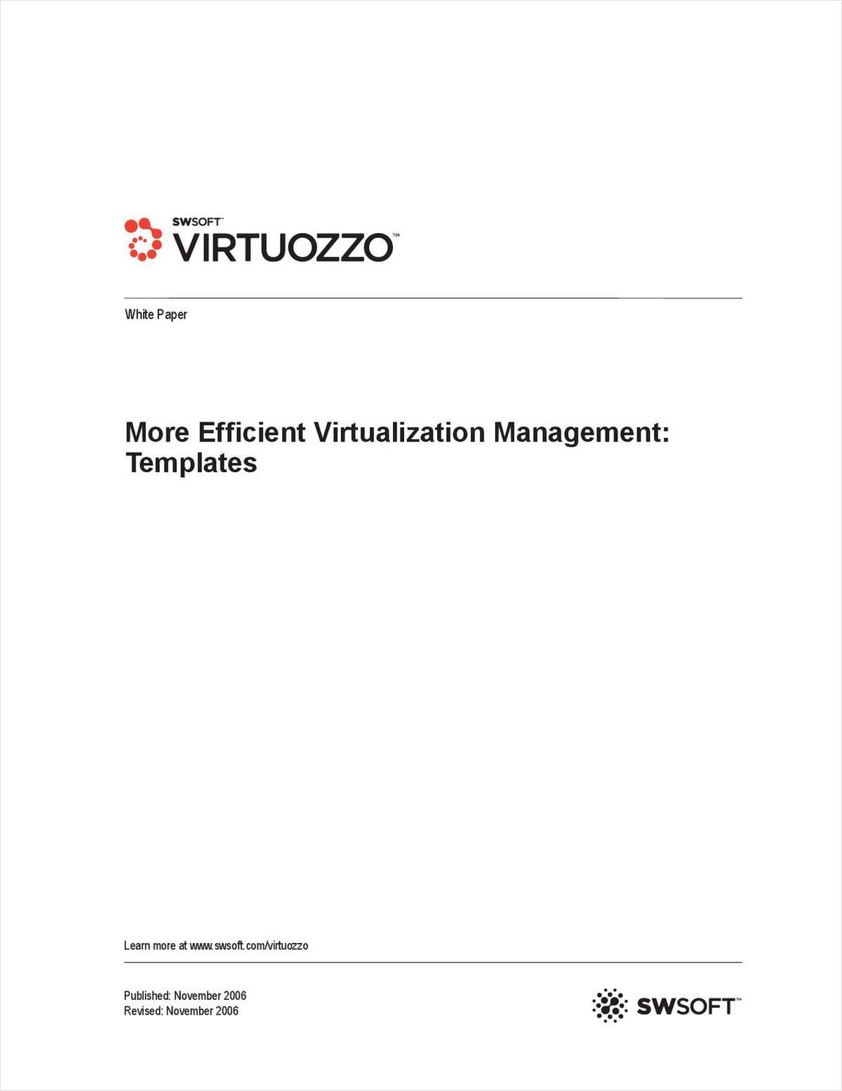 Templates for More Efficient Virtualization Management