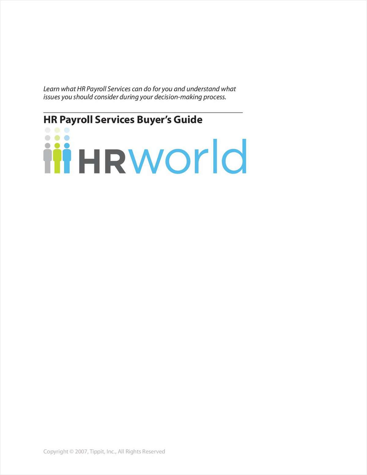The HR World Payroll Services Buyer's Guide