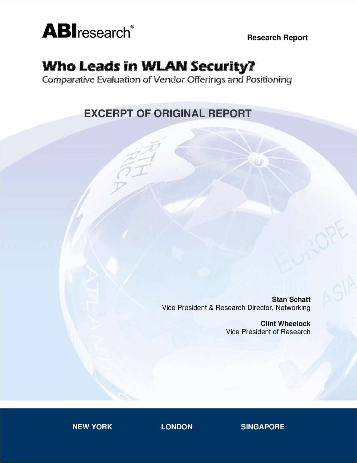 Who Leads in WLAN Security?