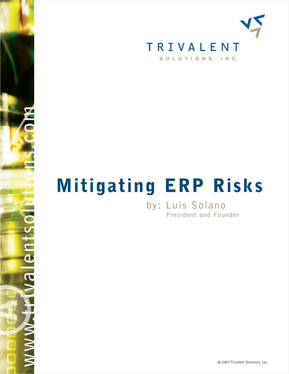 Mitigating ERP Risks