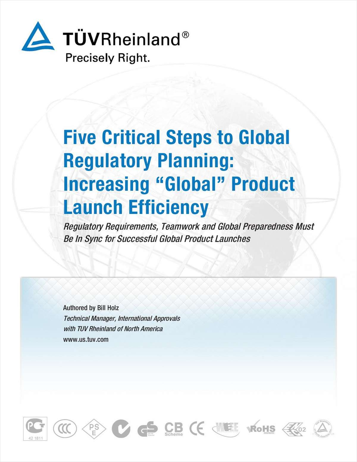 """Five Critical Steps to Global Regulatory Planning: Increasing """"Global"""" Product Launch Efficiency"""