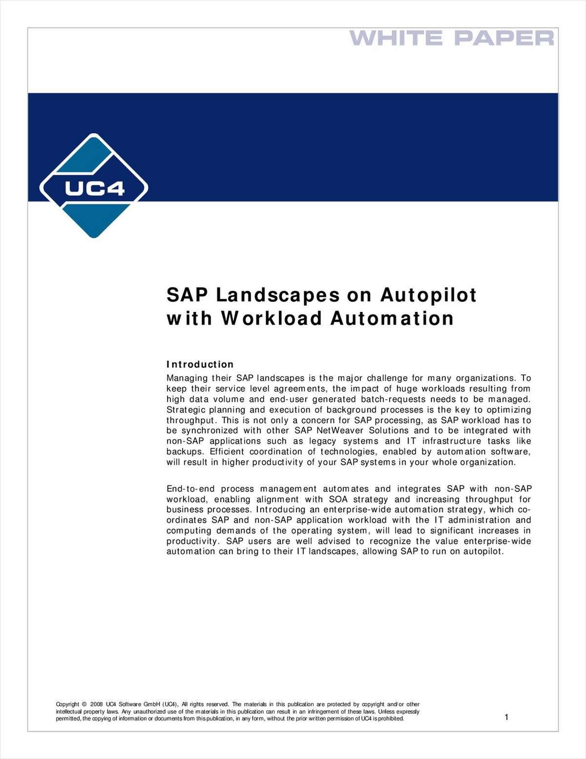 SAP Landscapes on Autopilot with Workload Automation
