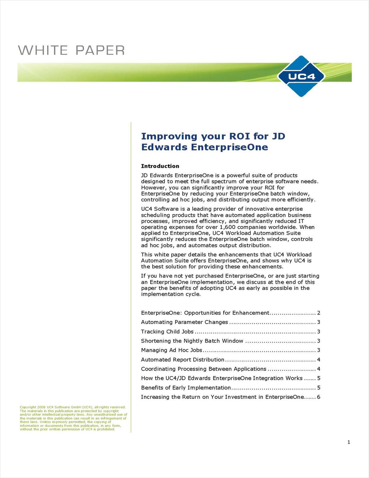 Improve your ROI for JD Edwards EnterpriseOne