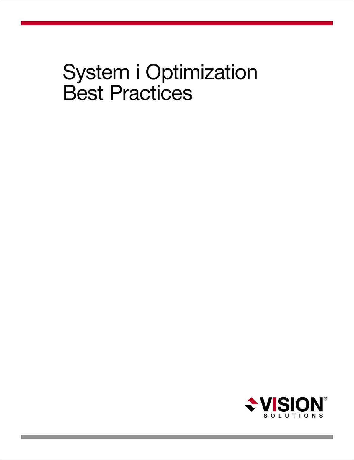 System i (AS/400) Optimization Best Practices