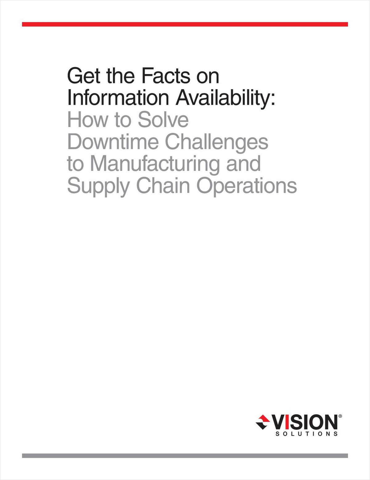 Get the Facts on How AIX and System I /Unix Platform Users Solve Downtime Challenges to Manufacturing and Supply Chain Operations