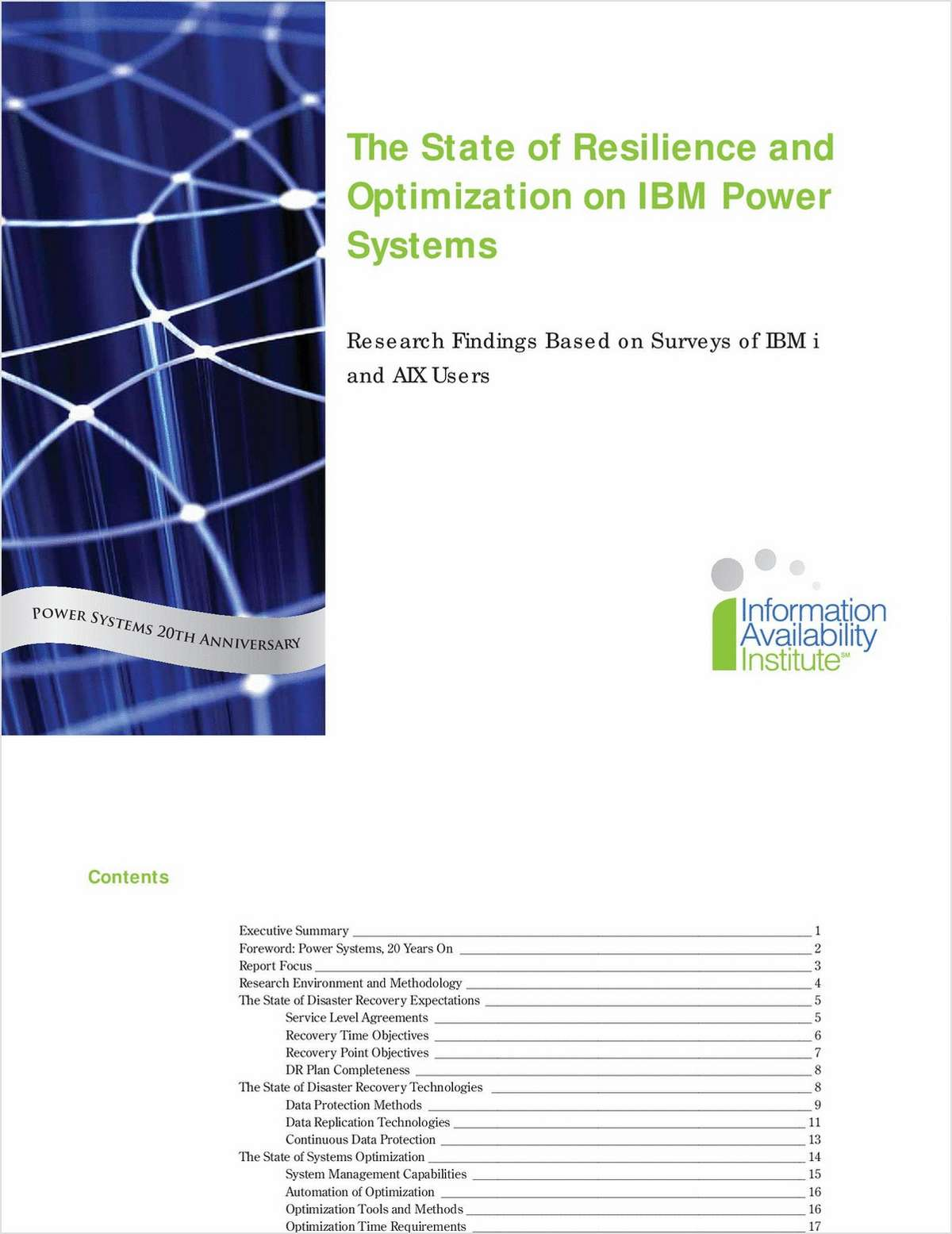 The State of Resilience & Optimization on IBM Power Systems (System i and System p)