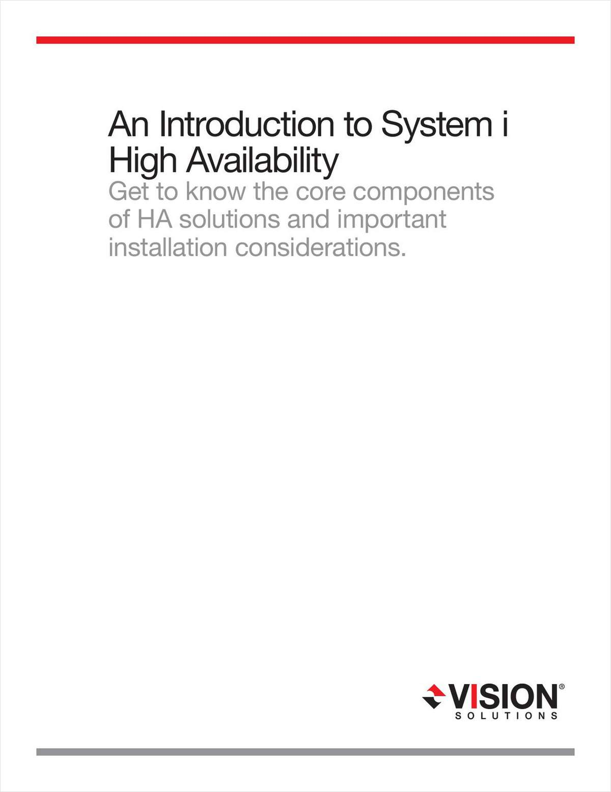 An Introduction to IBM System i (iSeries) High Availability Solutions