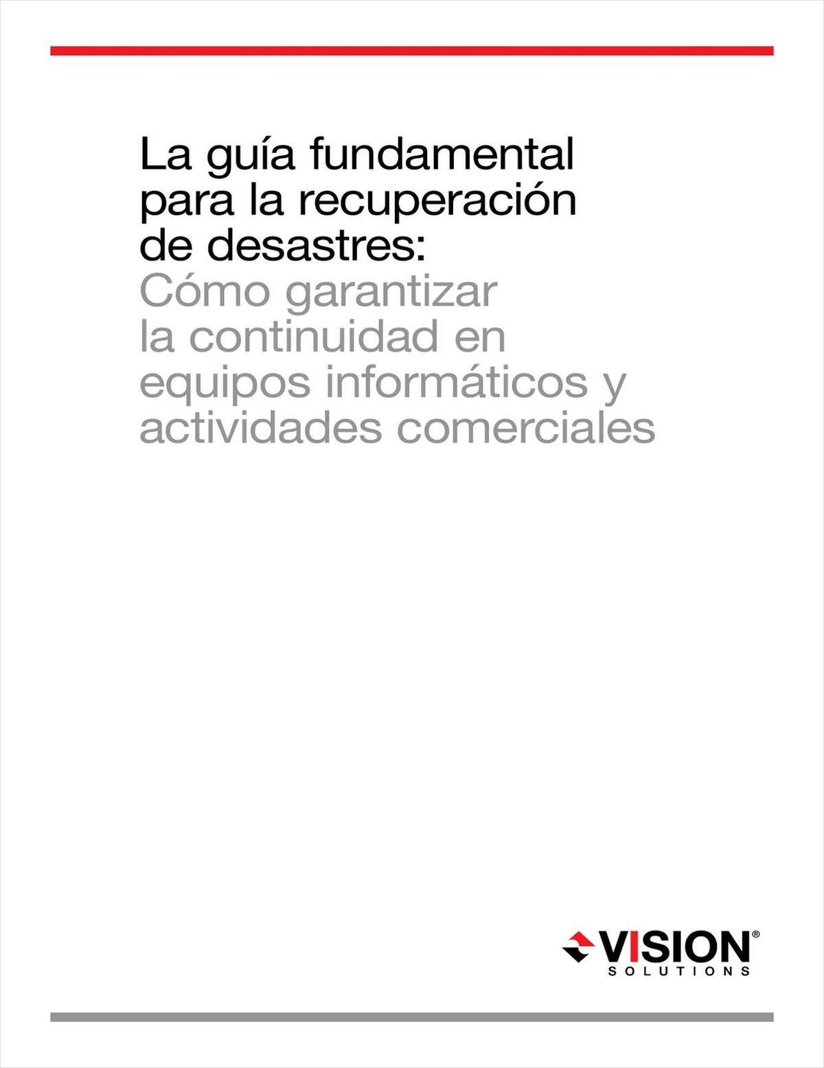 La Guía Fundamental para la Recuperación de Desastres