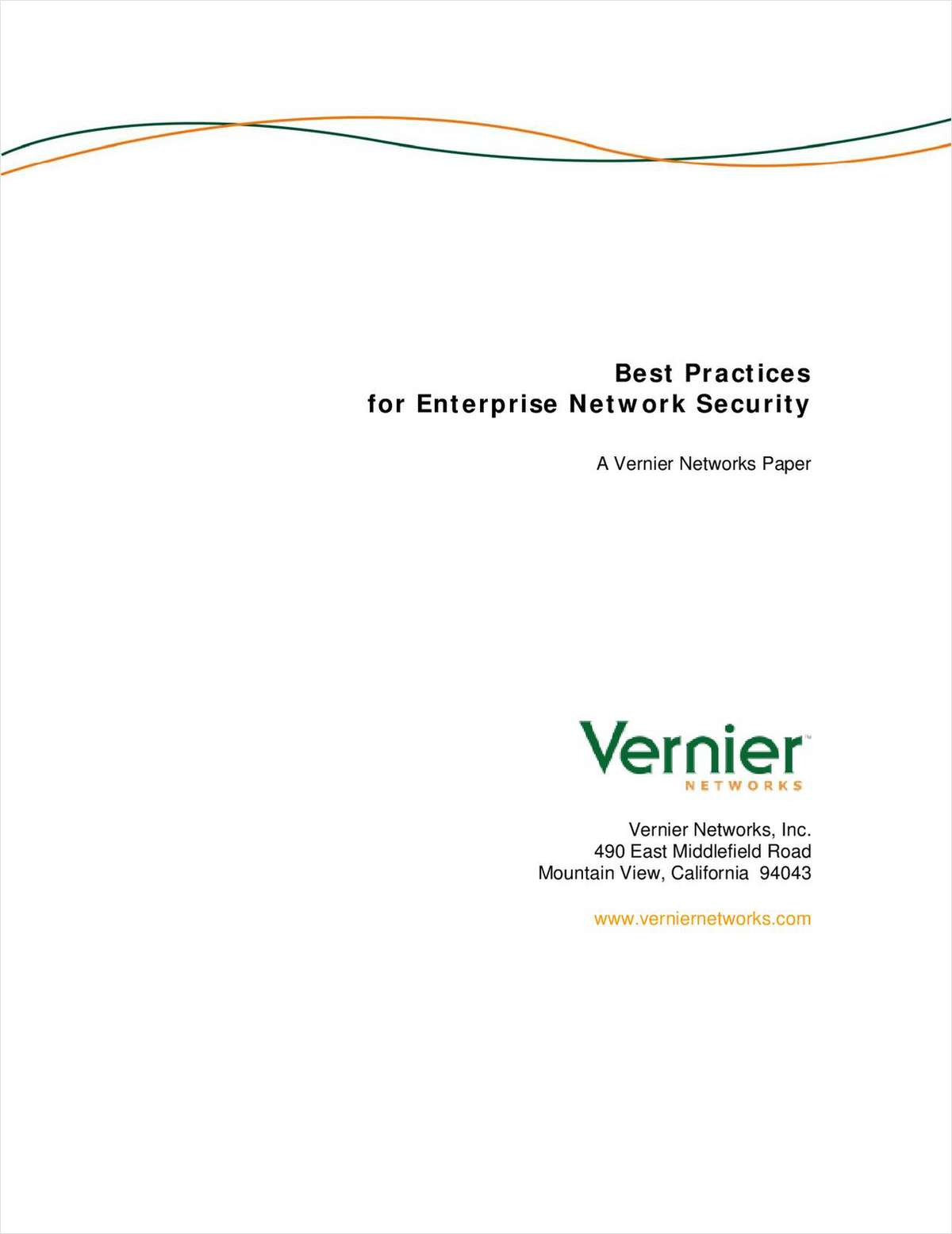 BEST PRACTICES for Enterprise Network Security