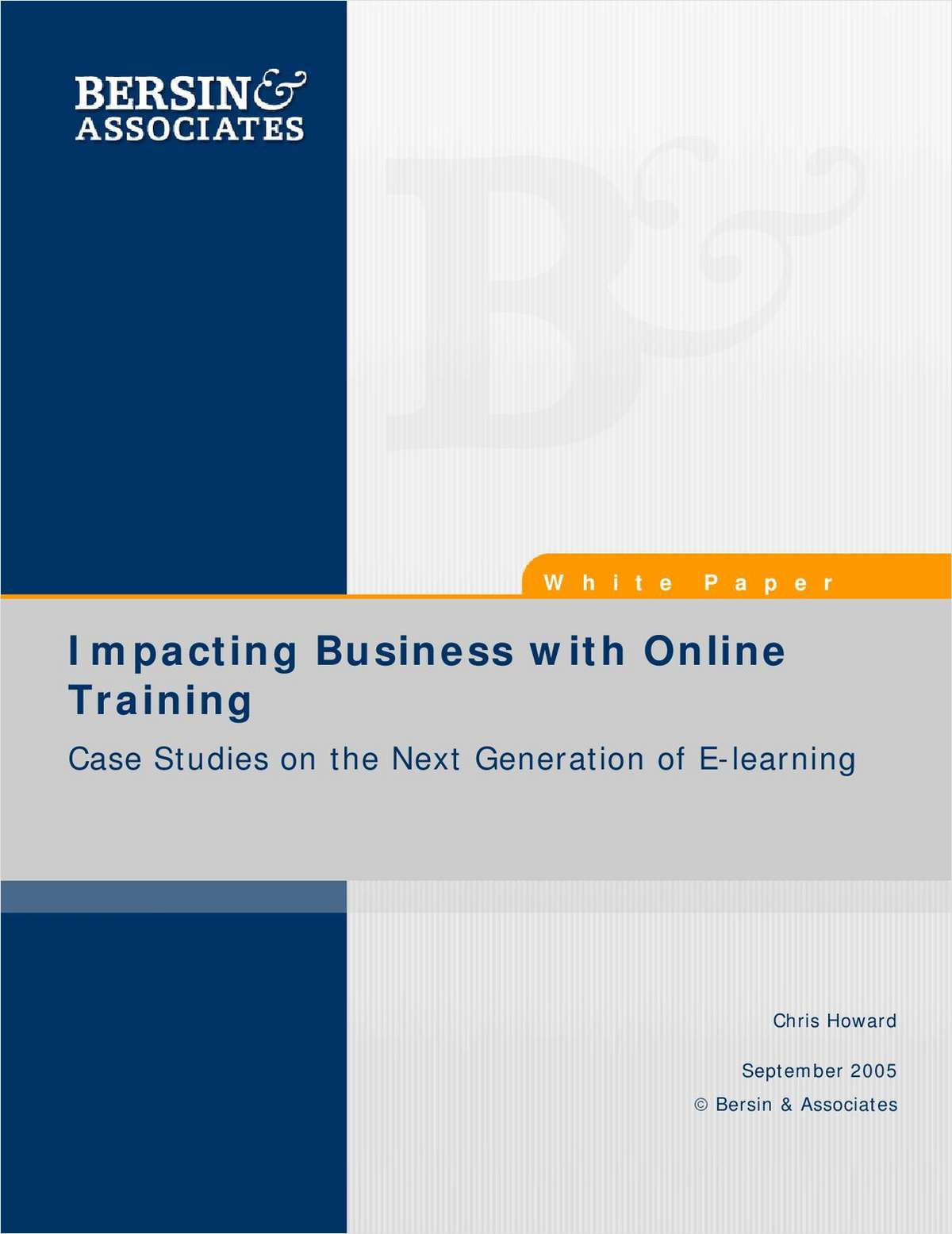 Impacting Business with Online Training