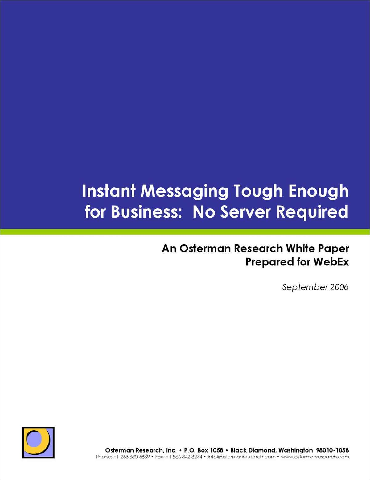 Instant Messaging Tough Enough for Business: No Server Required