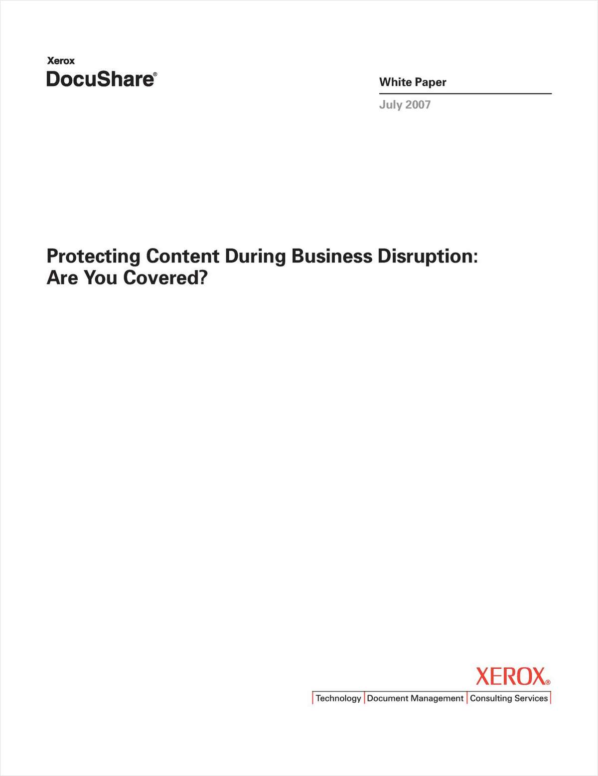 Protecting Content During Business Disruption: Are You Covered?