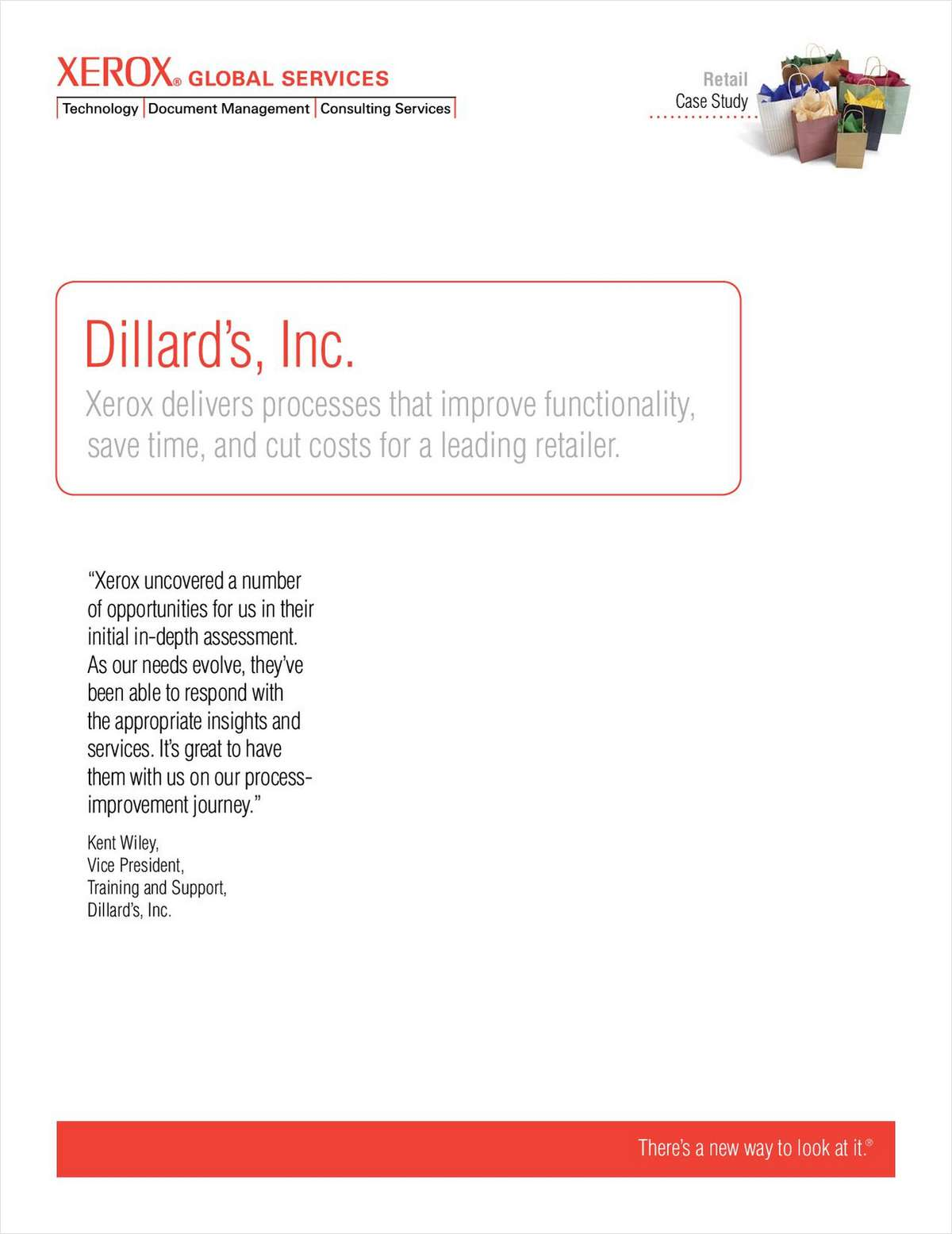 Dillard's Inc. Uses Xerox Office Document Assessment
