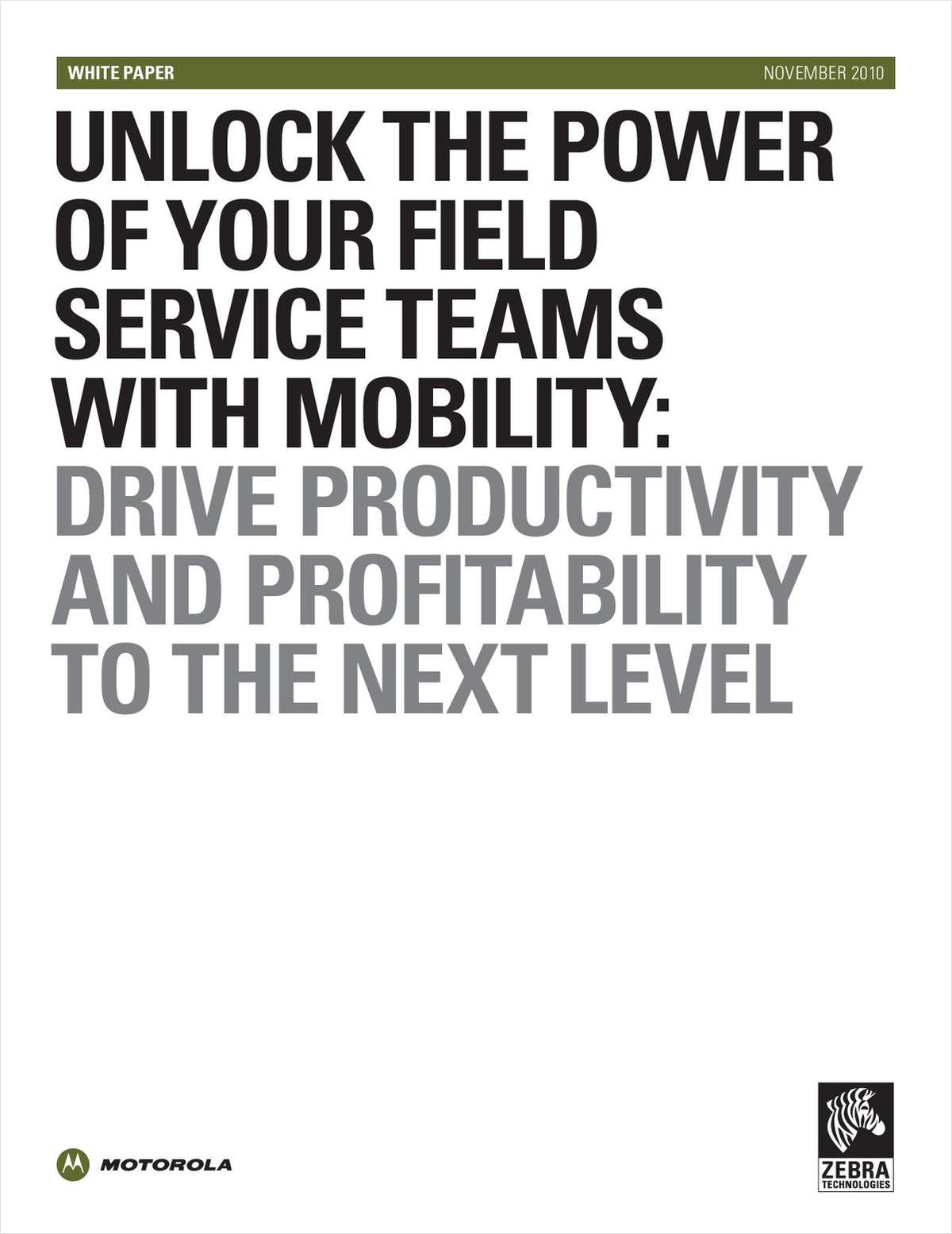 Unlock the Power of Your Field Service Teams with Mobility