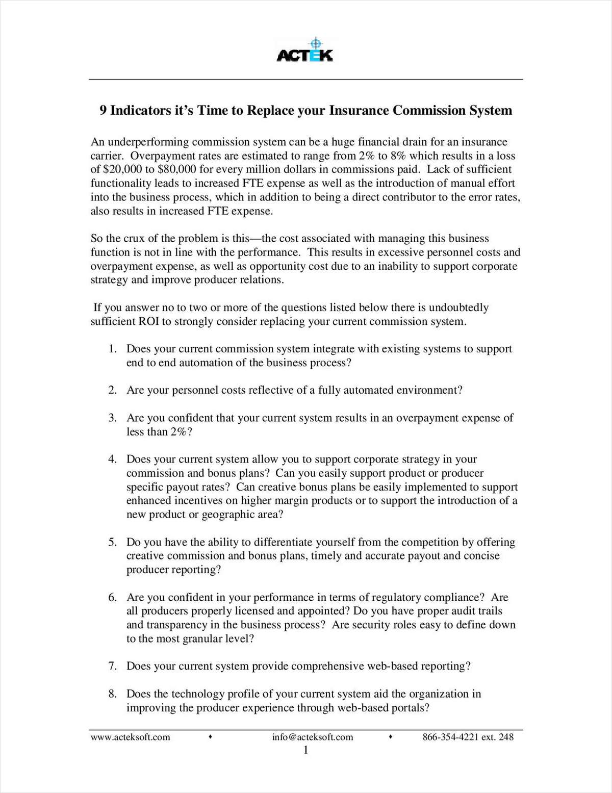 9 Indicators that it's Time to Replace Your Insurance Commission System