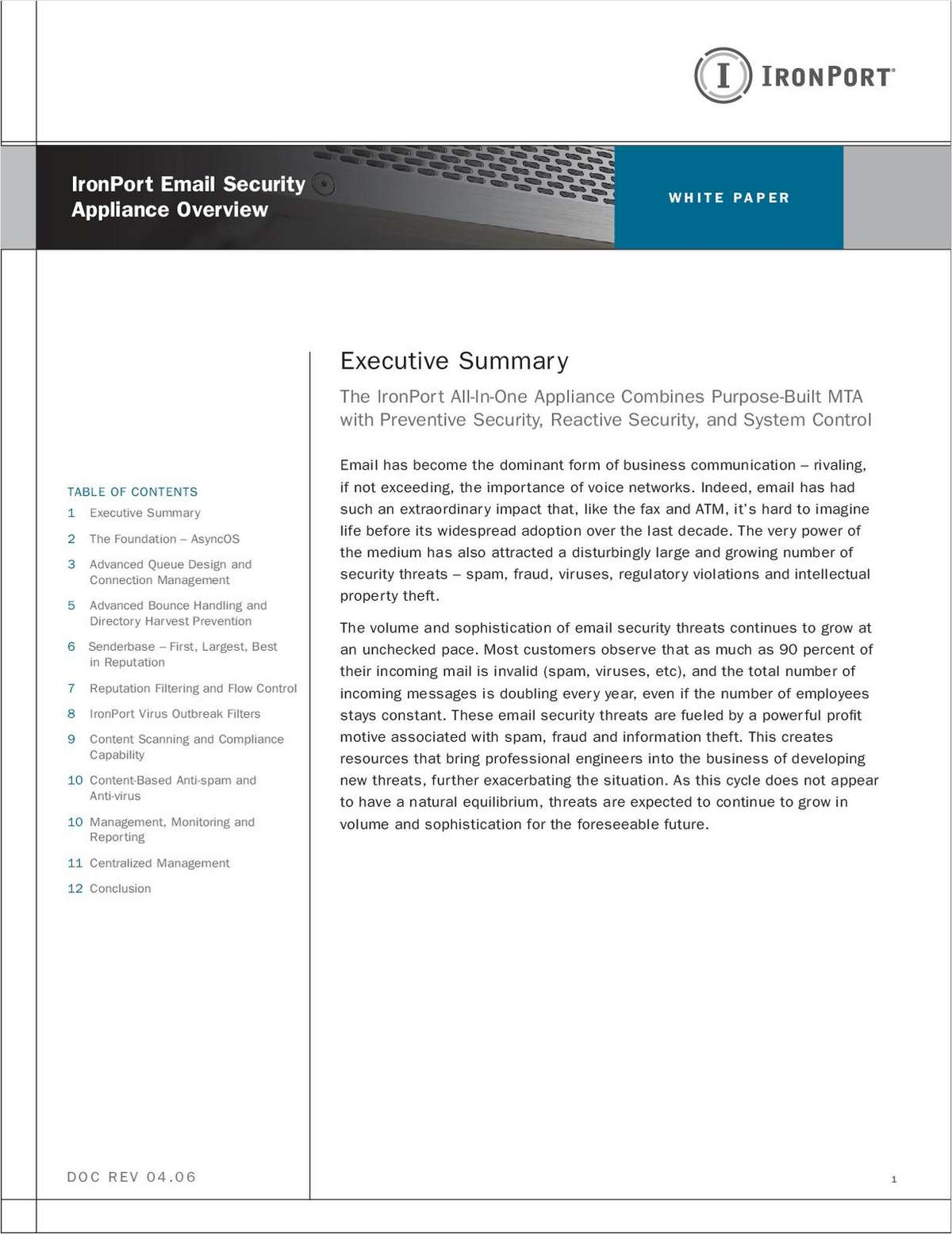 IronPort Email Security Appliance Overview