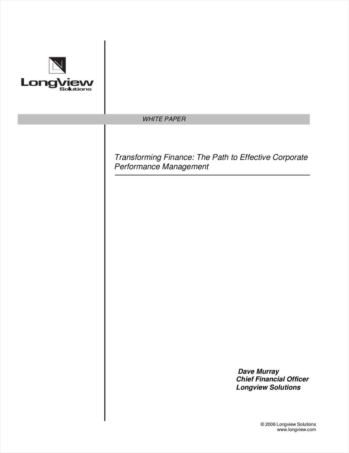 Transforming Finance: The Path to Effective Corporate Performance Management