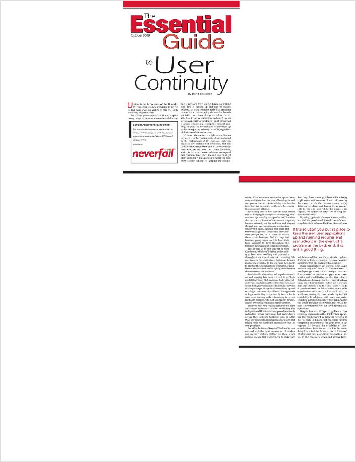 Essential Guide to User Continuity