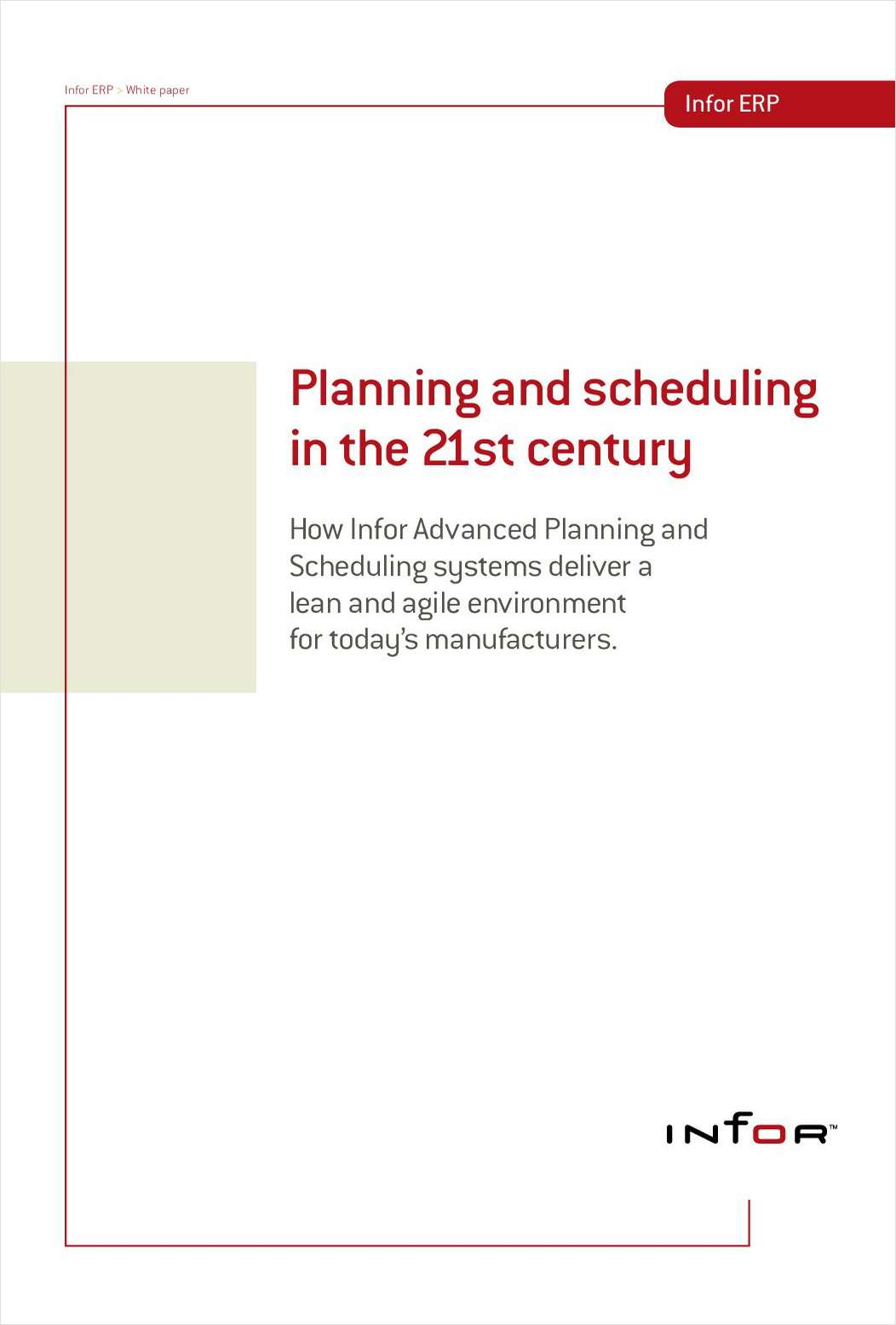Planning and Scheduling in the 21st Century