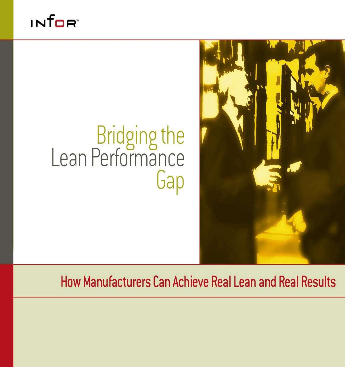 Three Secrets to Bridging the Lean Performance Gap