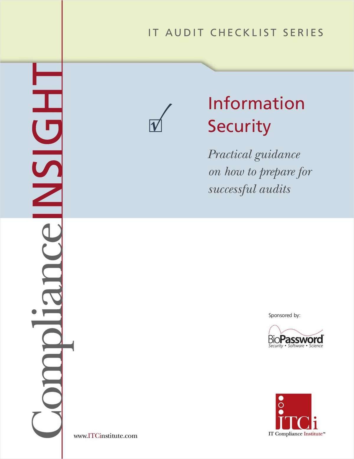 IT Audit Checklist: Information Security