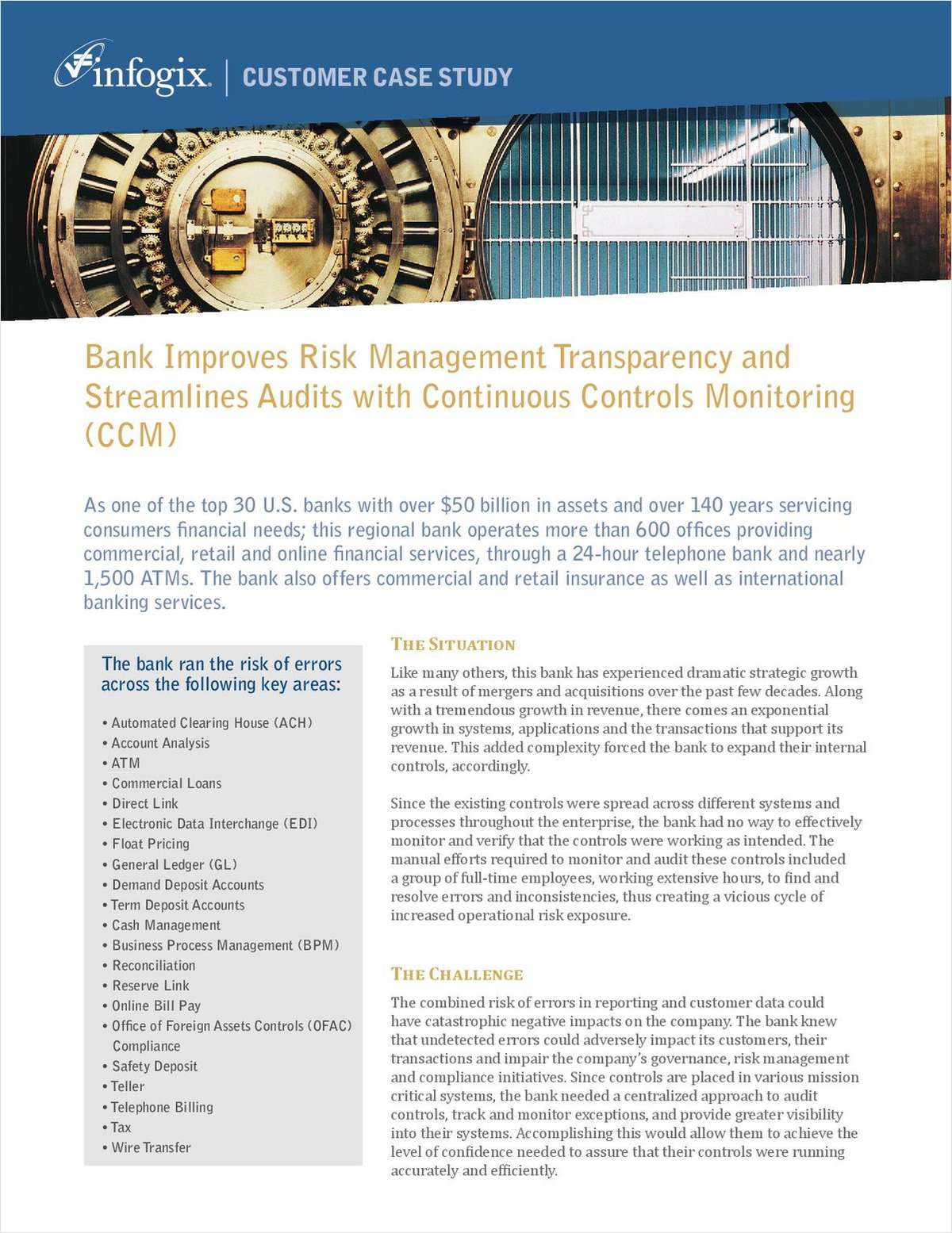 Bank Improves Risk Management Transparency and Streamlines Audits with Continuous Controls Monitoring (CCM)