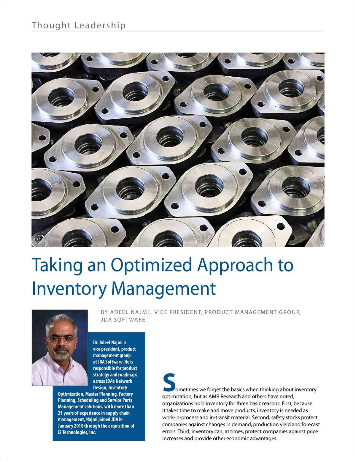 Take an Optimized Approach to Inventory Management