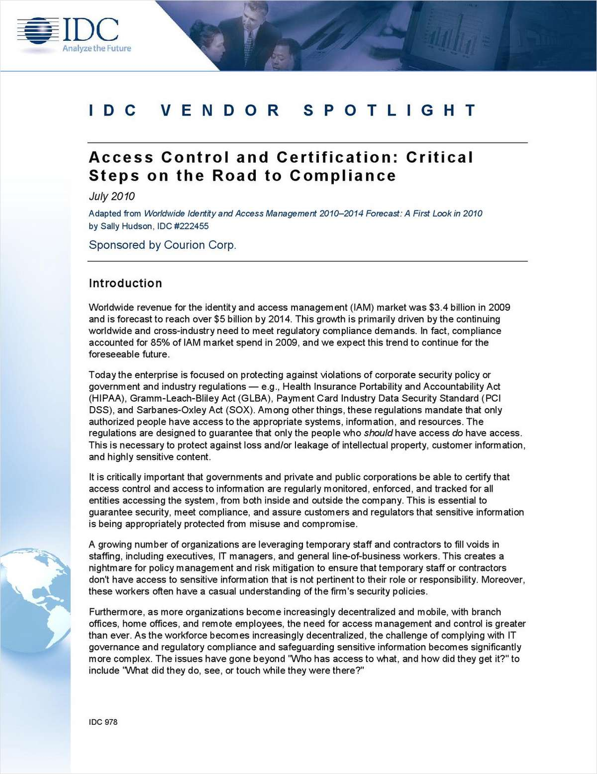 IDC Spotlight: Access Control and Certification